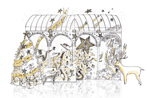 Illustration Xmas Dior 2020 5