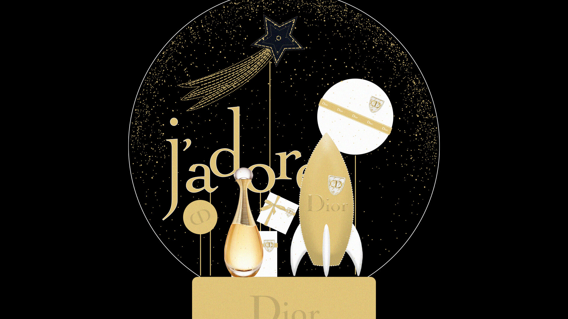 Boule A Neige Noel Xmas Dior 1 Design Objet