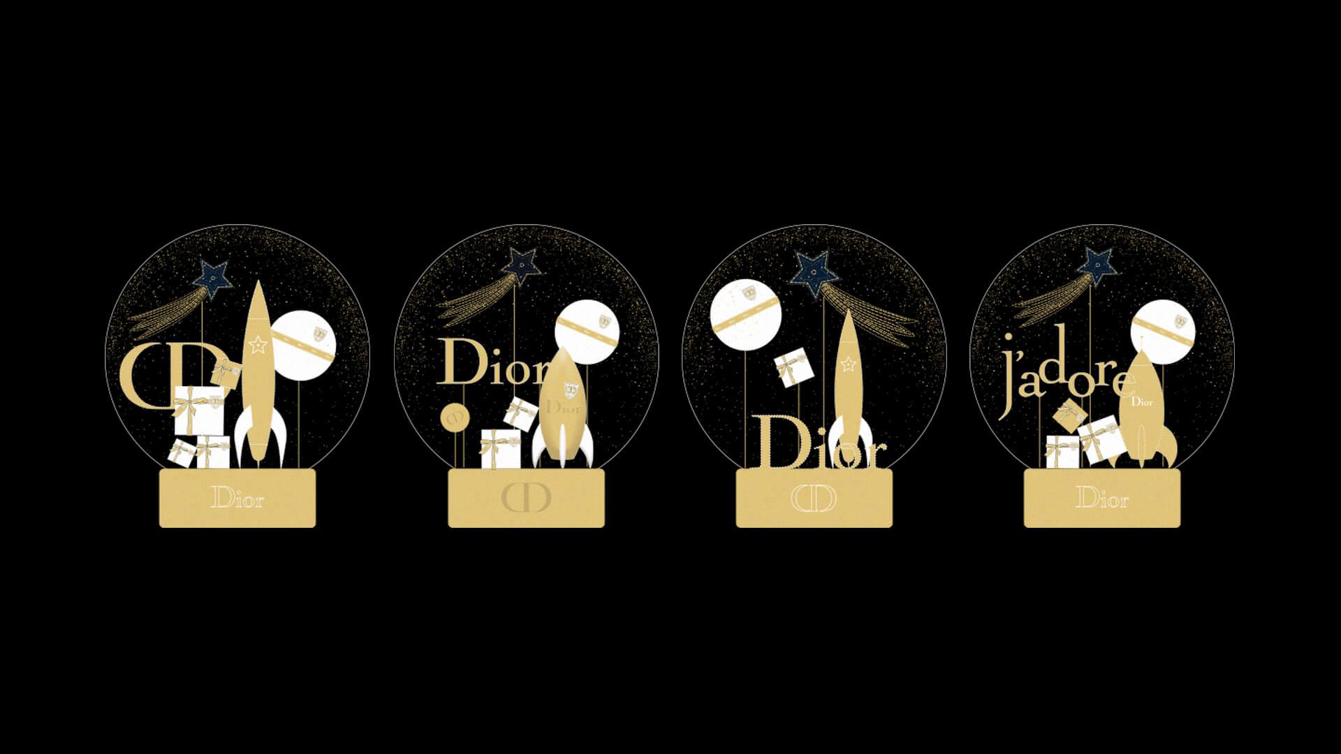 Boule A Neige Noel Xmas Dior 2 Design Objet