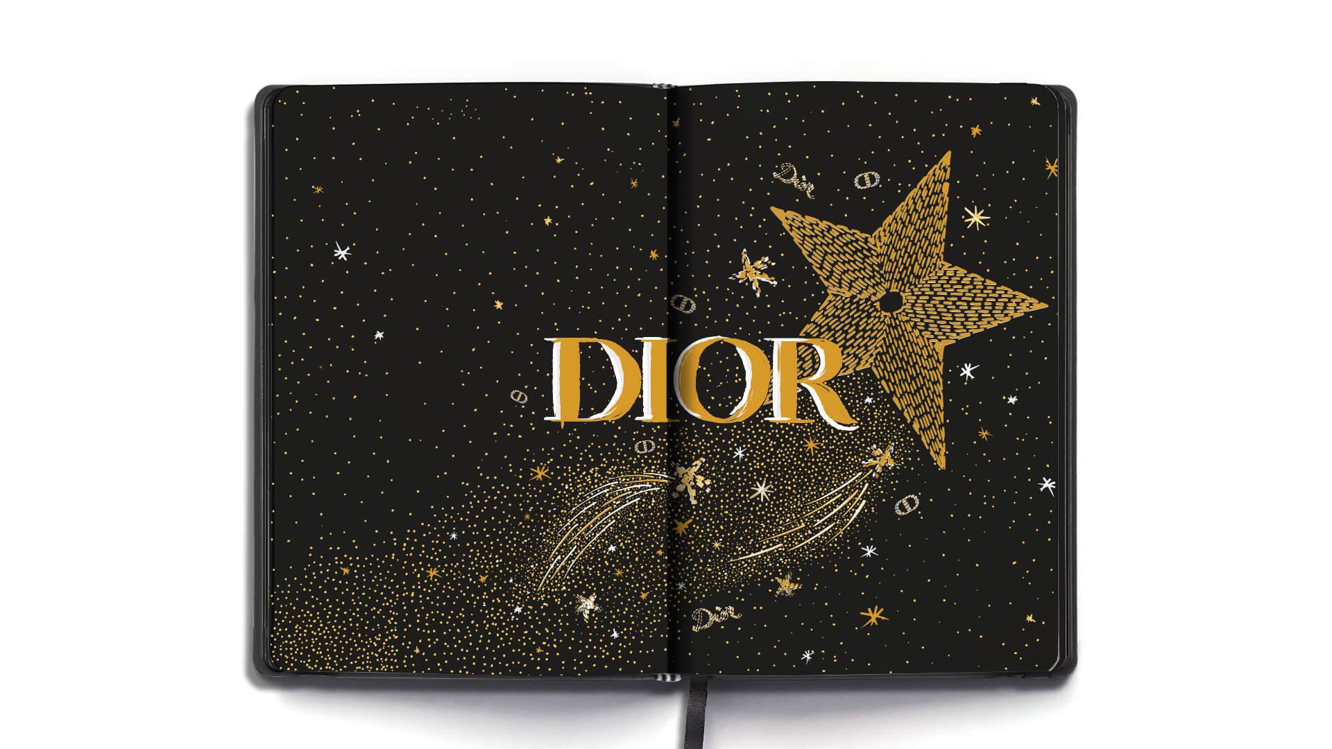 Illustration Xmas Dior 2020 1