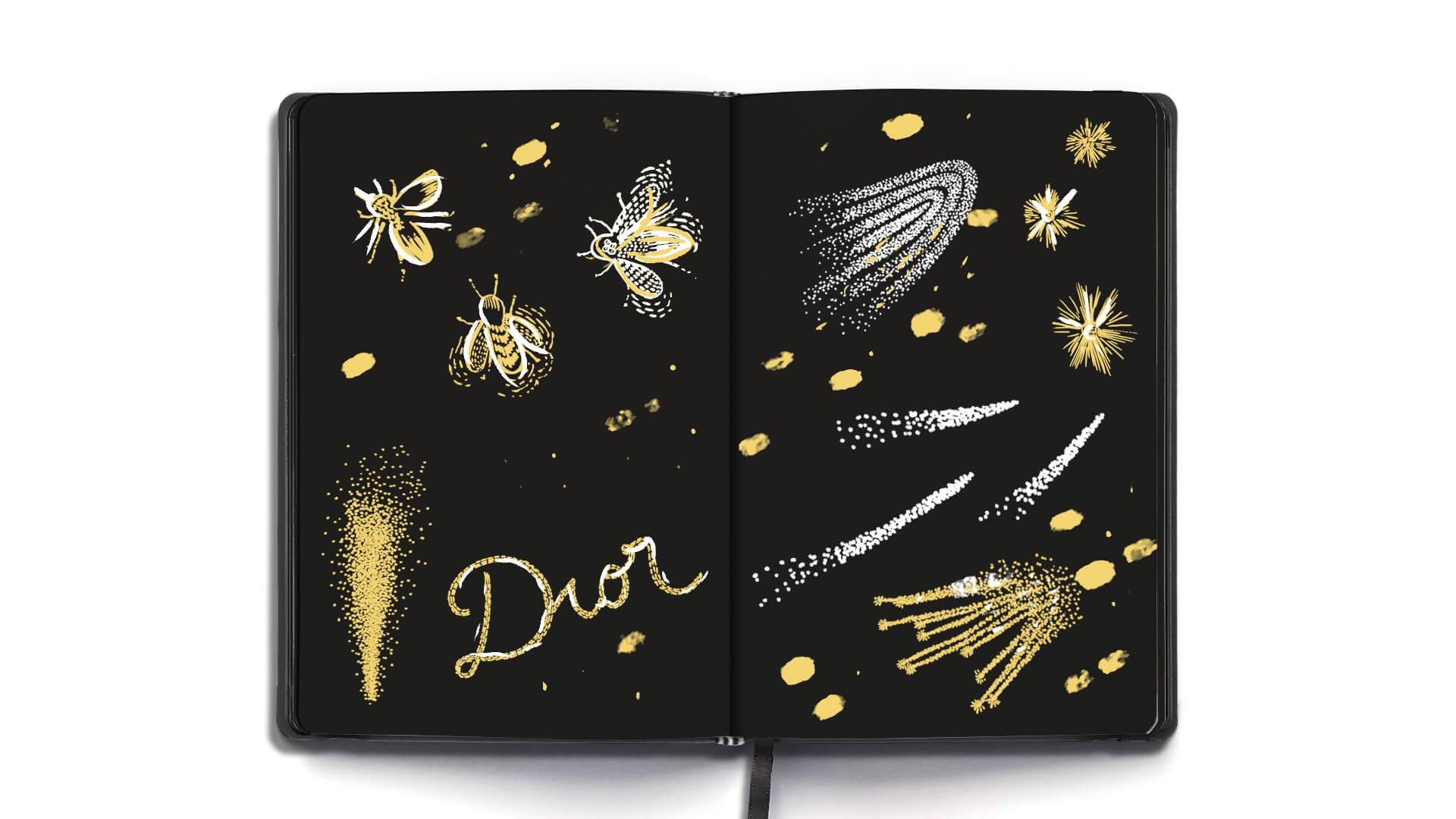 Illustration Xmas Dior 2020 4