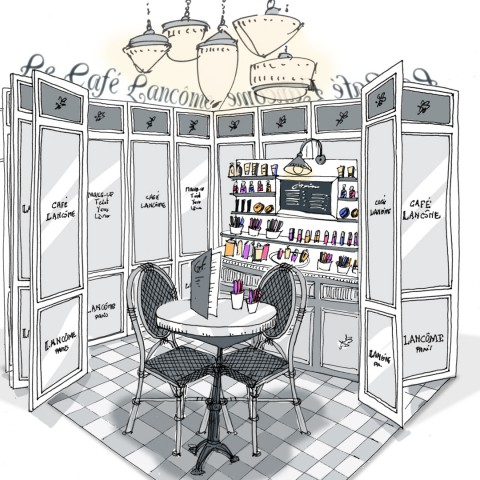 Podium Cafe Lancome Sephora 1